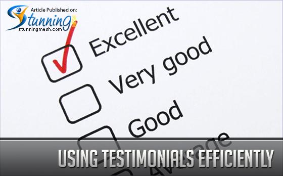 Using Testimonials Efficiently