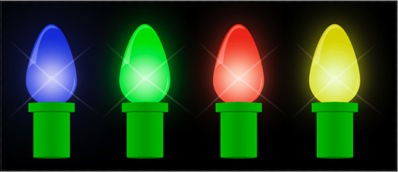 Christmas Lights Photoshop Tutorial