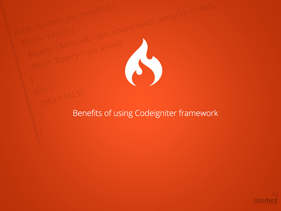 Benefits of using codeignitor framework.