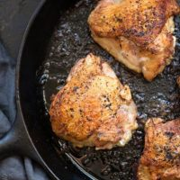 Cast Iron Skillet Chicken Thighs Recipe
