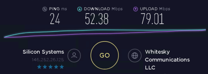 Speed test to 146.252.26.125