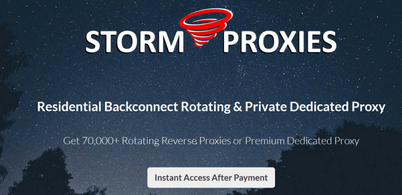 Storm proxies for scraping
