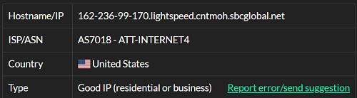 IP2-162.236.99.170 ISP test