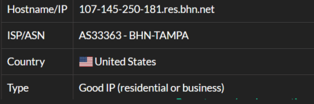 IP8- 107.145.250.181 ISP test