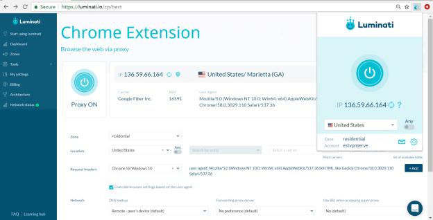 Use Luminati Residential Proxies On Chrome Extension