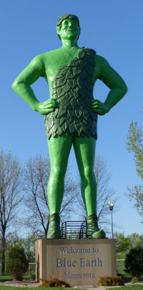 Jolly Green Giant - Blue Earth Minnesota