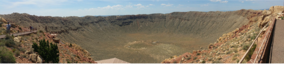 Meteor Crater Panorama - by Charley Carlin - For Stupid Vacations