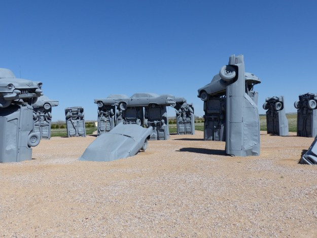 Inside Carhenge - by Charley Carlin