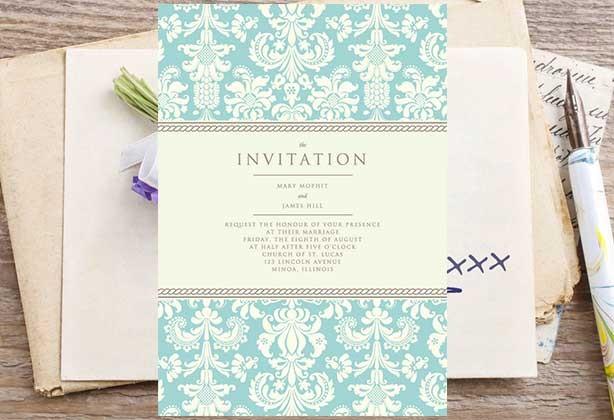 Wedding Invitation Design With Fl