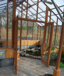 Greenhouse interior partition wall
