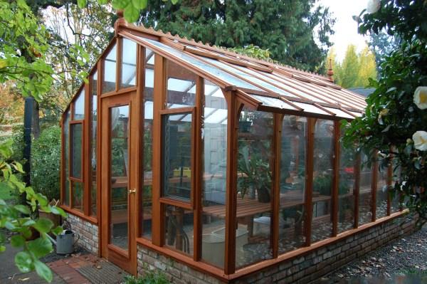 greenhouse gardening in garden