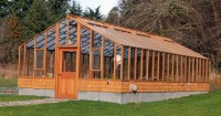 Deluxe Greenhouse kits - traditional wooden greenhouse