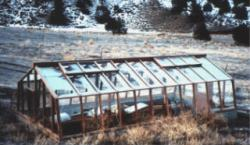 Pit greenhouse in Central Oregon
