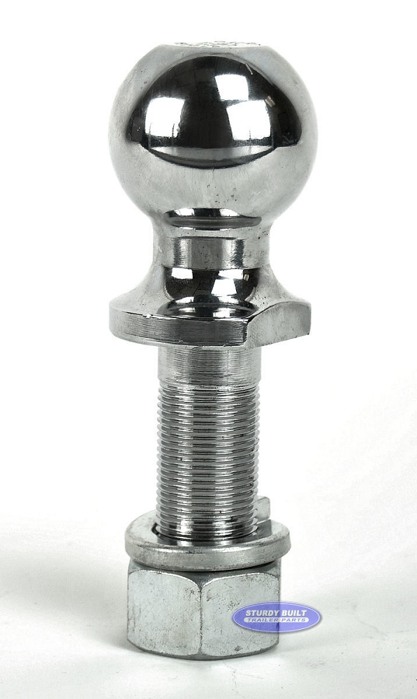 Trailer Ball by Curt 2 inch x 1 inch Ball Long Shank 6,000 lb Capacity