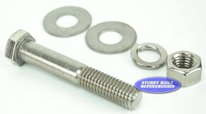 12 inch Diameter by 3 inch Long Stainless Steel Bolt