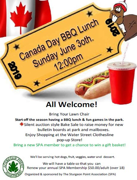 Canada Day BBQ poster