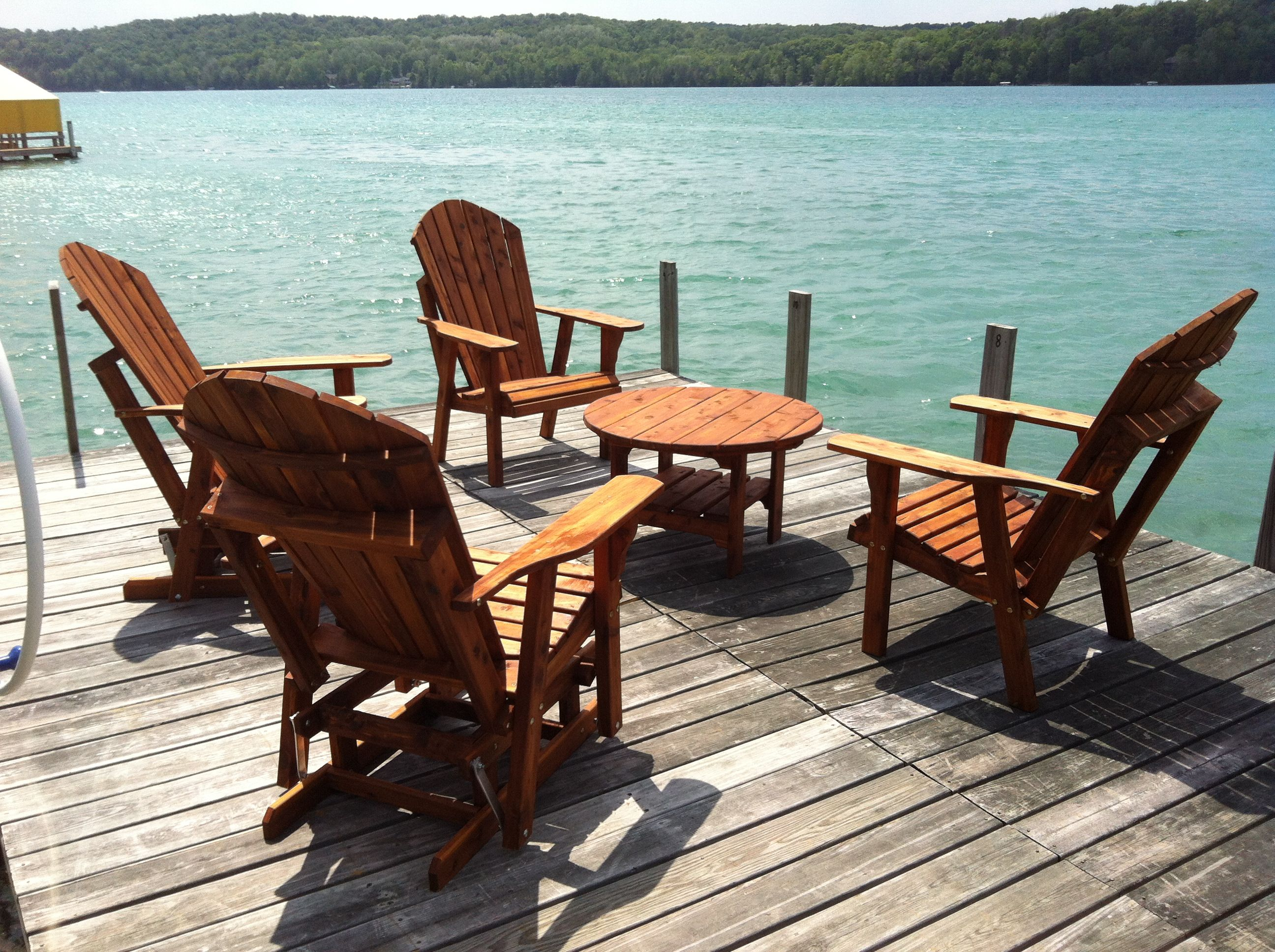 new river adirondack chairs lucite desk chair with arms cedar furniture sturgeon pottery