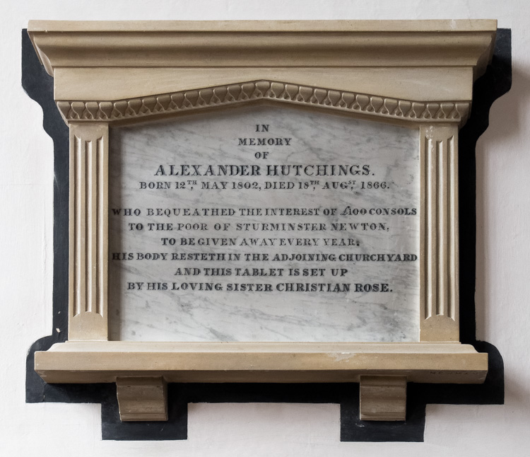 Sturminster Newton, St Mary's Church, Alexander Hutchings