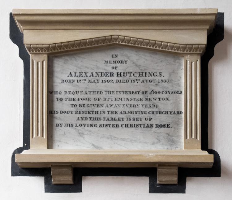 Sturminster Newton, St Mary's Church, Alexander Hutchings