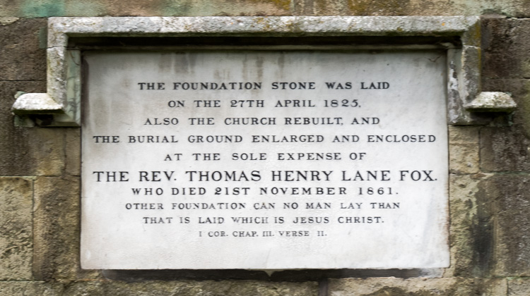 Sturminster Newton, St Mary's Church, Foundation Stone
