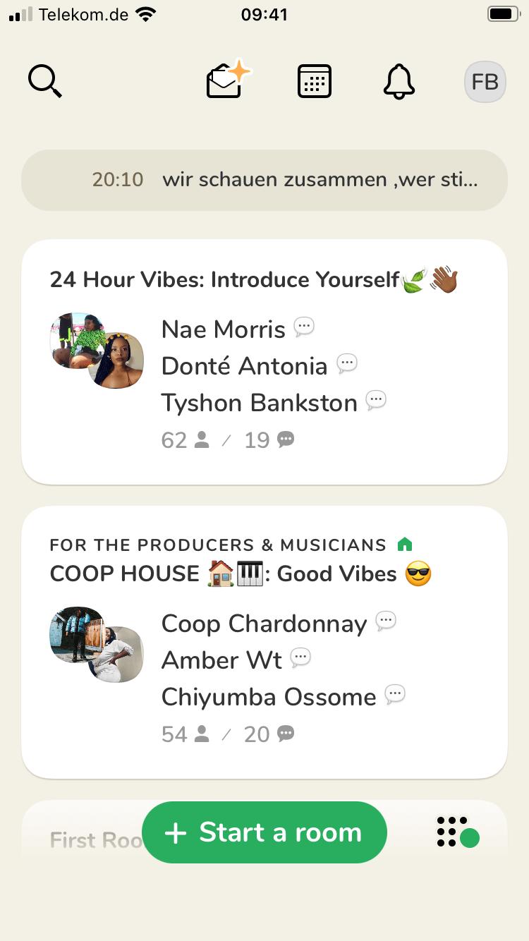 clubhouse was passiert in der app
