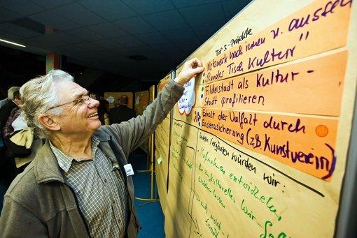 Im Herbst 2010 haben Bürger   Projekte bewertet. Foto: Archiv Thomas Krämer