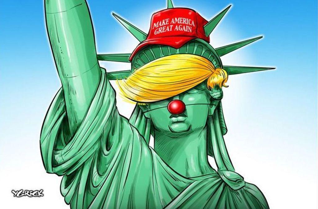 Cartoons zur USWahl Die besten TrumpKarikaturen im