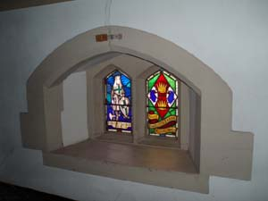 The windows of the Porch of St Vincent's.
