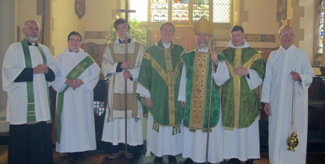 The altar party at the Commissioning of The Reverend Dr Michael Hull at St Vincent's on 20 June 2015.