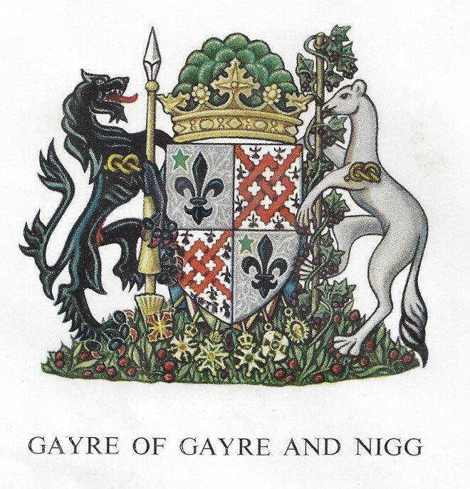 Lt Col. Robert Gayre's Coat of Arms.