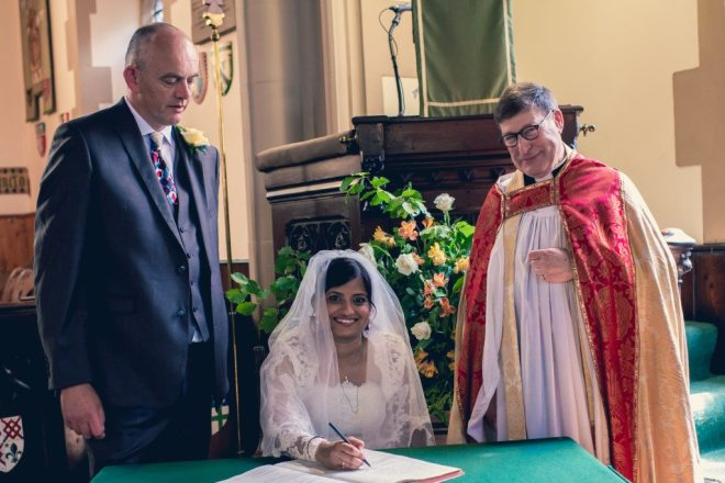 Jonathan and Suja's wedding at St Vincent's on 3rd July 2015.