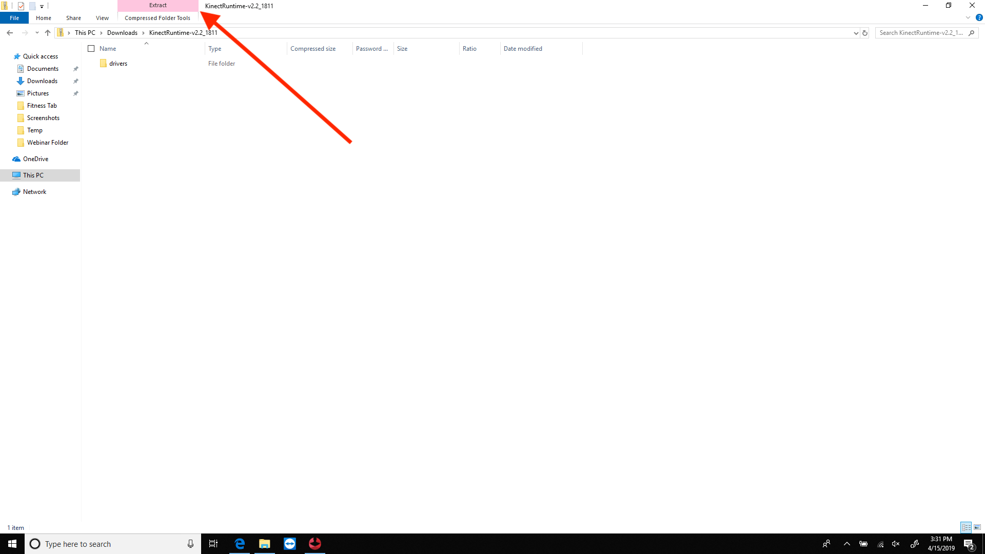 How do I manually update my Kinect sensor drivers?