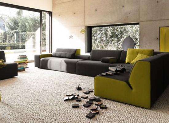 contemporary leather sofas sydney duck cloth sofa covers zelená a šedá kombinace barev dodá interiéru uklidňující ...