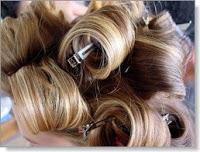 rolls of hair