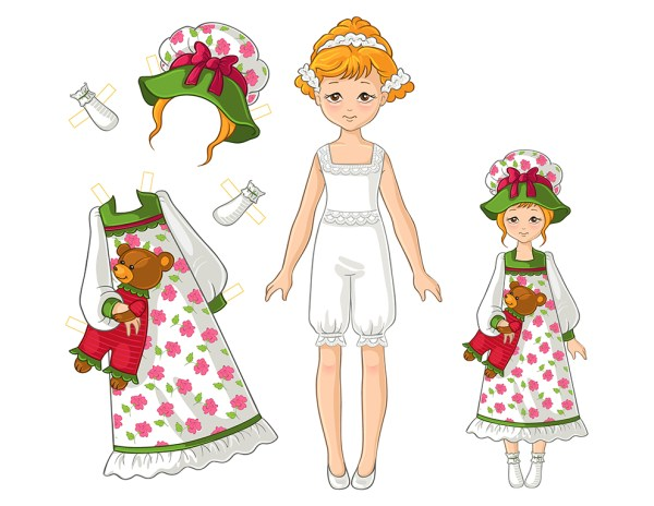 Paper Doll Girl Set no 1