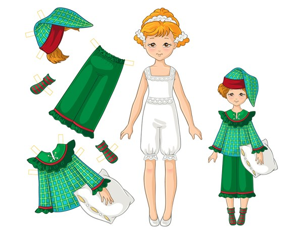 Paper Doll Girl Set no 2