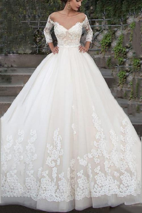 3 4 Length Sleeve Wedding Dresses And Bridal Collection 2020 Classic And Stylish Designer Wedding Gowns By Styleaisle Uk