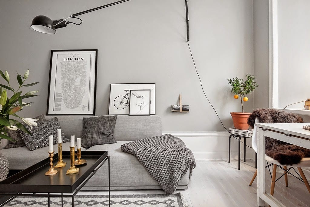 A Small Grey Apartment In Stockholm  StyleMinimalism