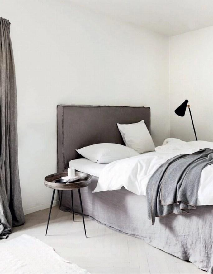 Calming Minimalist Bedroom Inspiration Moodboard