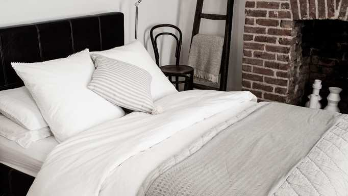 My Luxury Bedding from The White Company & Wood/Grey