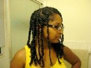 natural hair twist - style