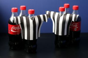 DIY Referee Shirt Koozie