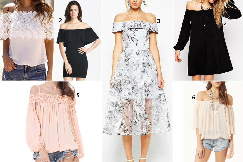 tops, dresses, off the shoulder, fashion, style