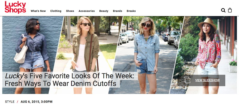 STYLEanthropy feature, Lucky Magazine, LuckyShops, paisley, cut-offs