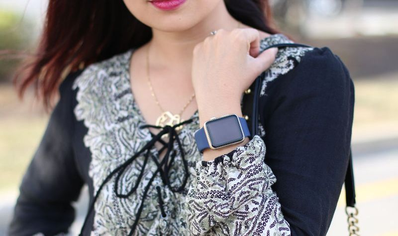 Free People Lace Up top, Apple watch