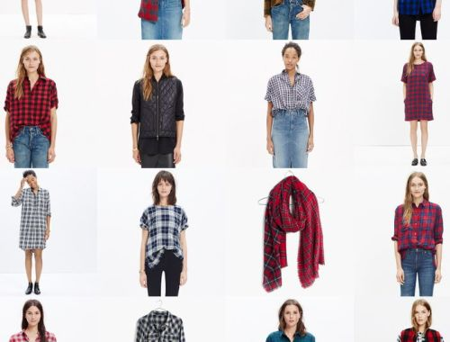 plaid, fall, shirts, scarf, vest, Madewell sale