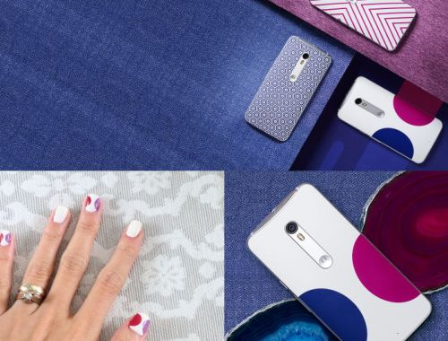 Moto X Pure Edition by Jonathan Adler, nail design