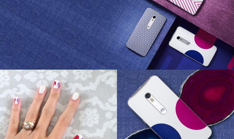 Moto X Pure Edition by Jonathan Adler, nail design