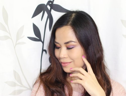 Spring Pink Makeup look, beauty tutorial, urban Decay, Make Up For Ever, Lancome, Pur Cosmetics