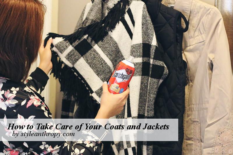 outwear care, jackets, coats, scotchgard